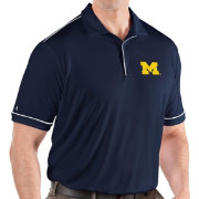 Antigua Men's Michigan Wolverines Blue Salute Performance Polo