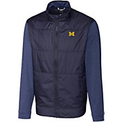 Cutter & Buck Men's Michigan Wolverines Blue Stealth Full-Zip Jacket