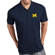 Antigua Men's Michigan Wolverines Blue Tribute Performance Polo