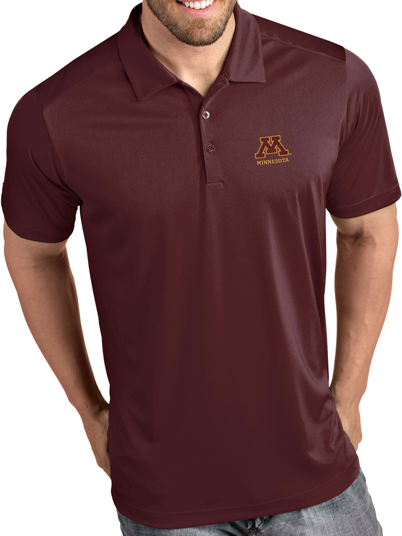 Antigua Men's Minnesota Golden Gophers Maroon Tribute Performance Polo