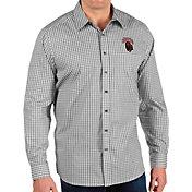 Antigua Men's Montana Grizzlies Structure Button Down Long Sleeve Black Shirt