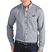 Antigua Men's Montana State Bobcats Blue Structure Button Down Long Sleeve Shirt