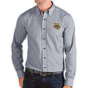 Antigua Men's Marquette Golden Eagles Blue Structure Button Down Long Sleeve Shirt
