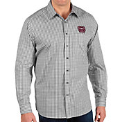Antigua Men's Missouri State Bears Structure Button Down Long Sleeve Black Shirt