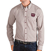 Antigua Men's Missouri State Bears Maroon Structure Button Down Long Sleeve Shirt