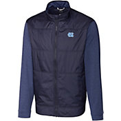 Cutter & Buck Men's North Carolina Tar Heels Navy Stealth Full-Zip Jacket