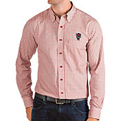 Antigua Men's NC State Wolfpack Red Structure Button Down Long Sleeve Shirt