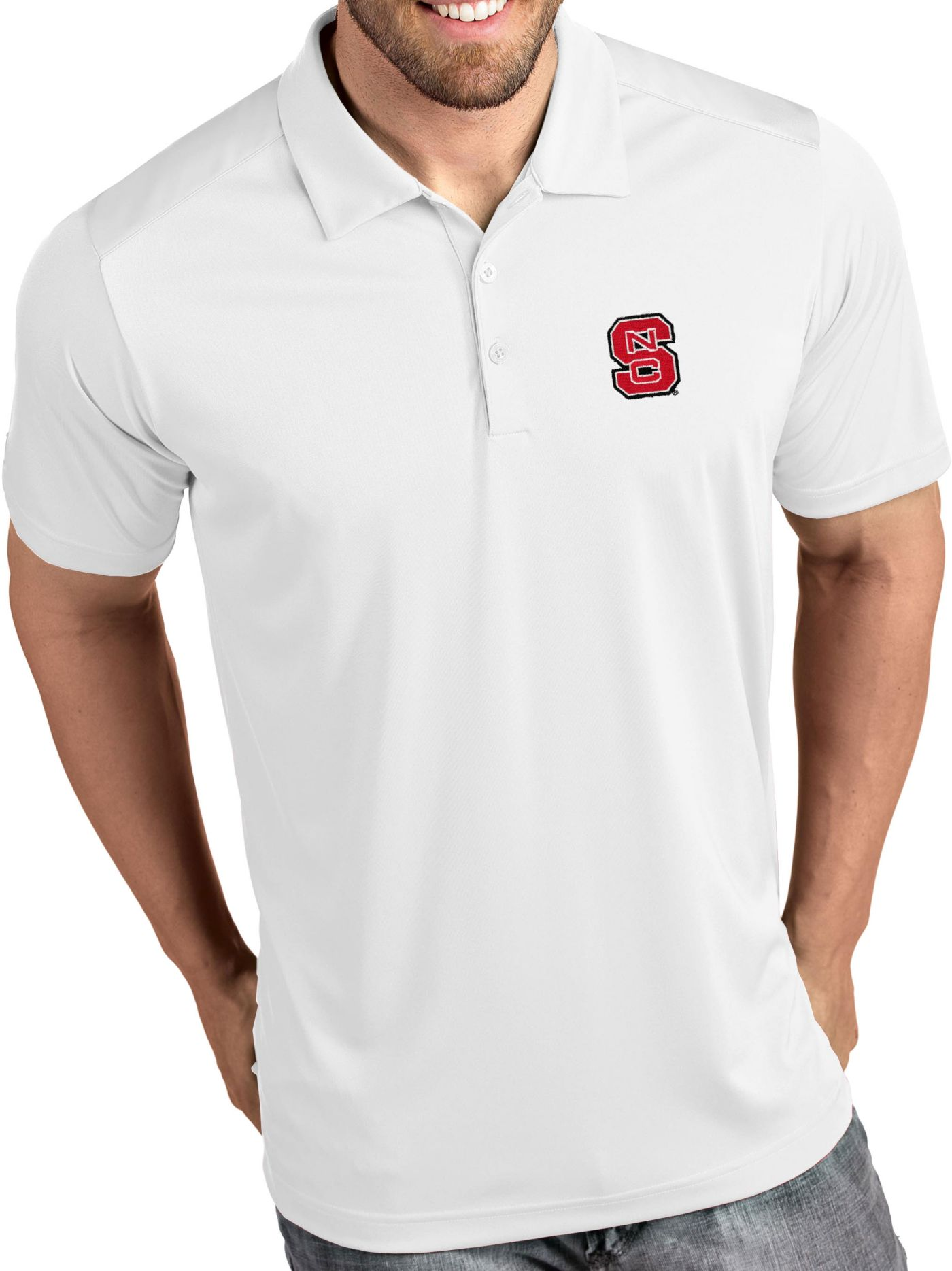 Antigua Men's NC State Wolfpack Tribute Performance White Polo
