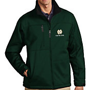 Antigua Men's Notre Dame Fighting Irish Green Traverse Full-Zip Jacket