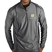 Antigua Men's Notre Dame Fighting Irish Grey Tempo Half-Zip Pullover