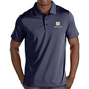 Antigua Men's Notre Dame Fighting Irish Navy Quest Performance Polo