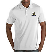 Antigua Men's Notre Dame Fighting Irish Quest Performance White Polo