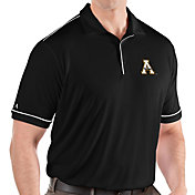 Antigua Men's Appalachian State Mountaineers Salute Performance Black Polo