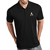 Antigua Men's Appalachian State Mountaineers Tribute Performance Black Polo