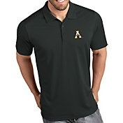 Antigua Men's Appalachian State Mountaineers Grey Tribute Performance Polo