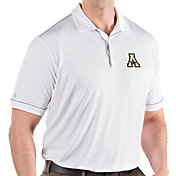 Antigua Men's Appalachian State Mountaineers Salute Performance White Polo