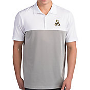 Antigua Men's Appalachian State Mountaineers Venture White Polo
