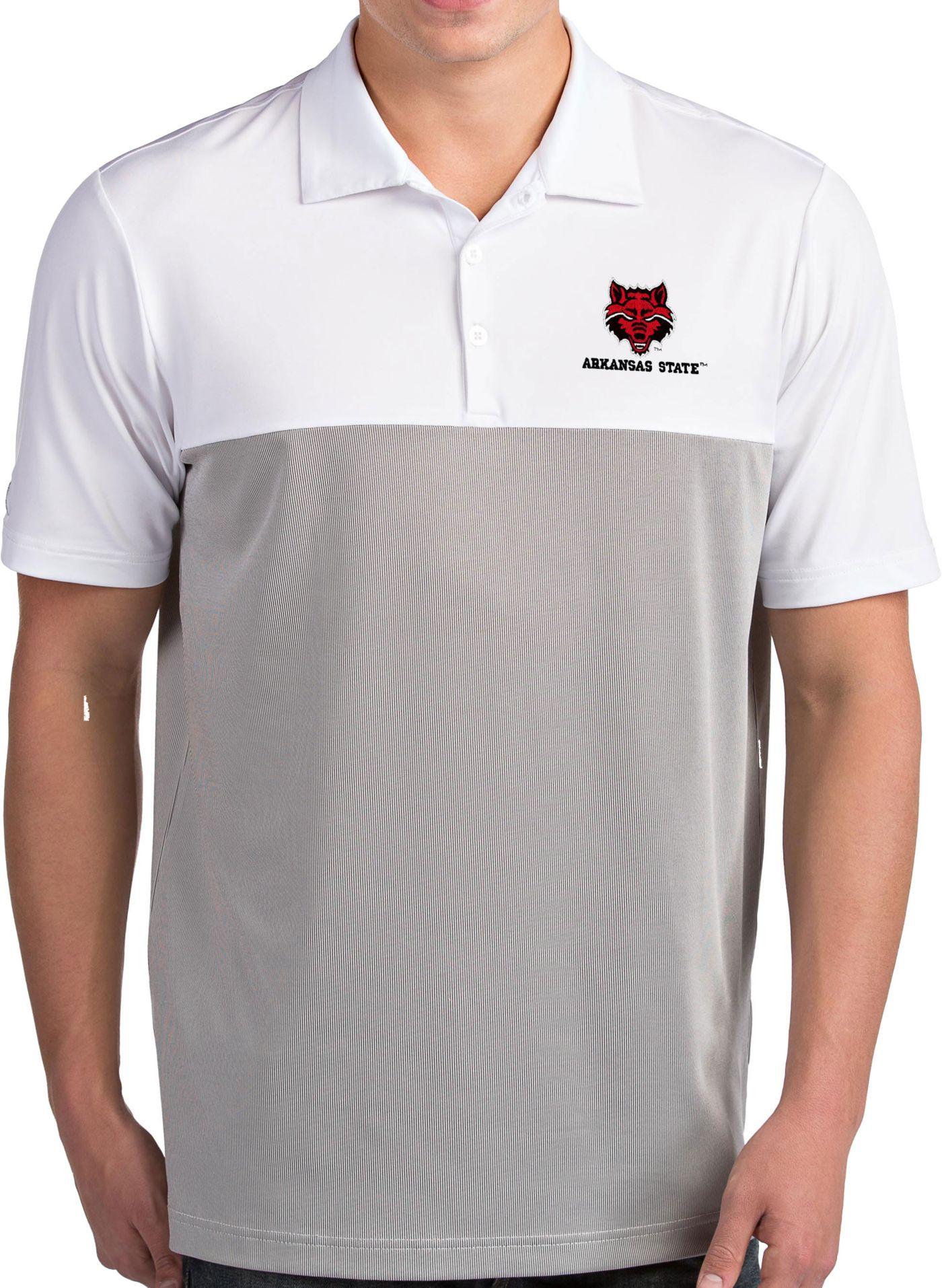 Antigua Men's Arkansas State Red Wolves Venture White Polo
