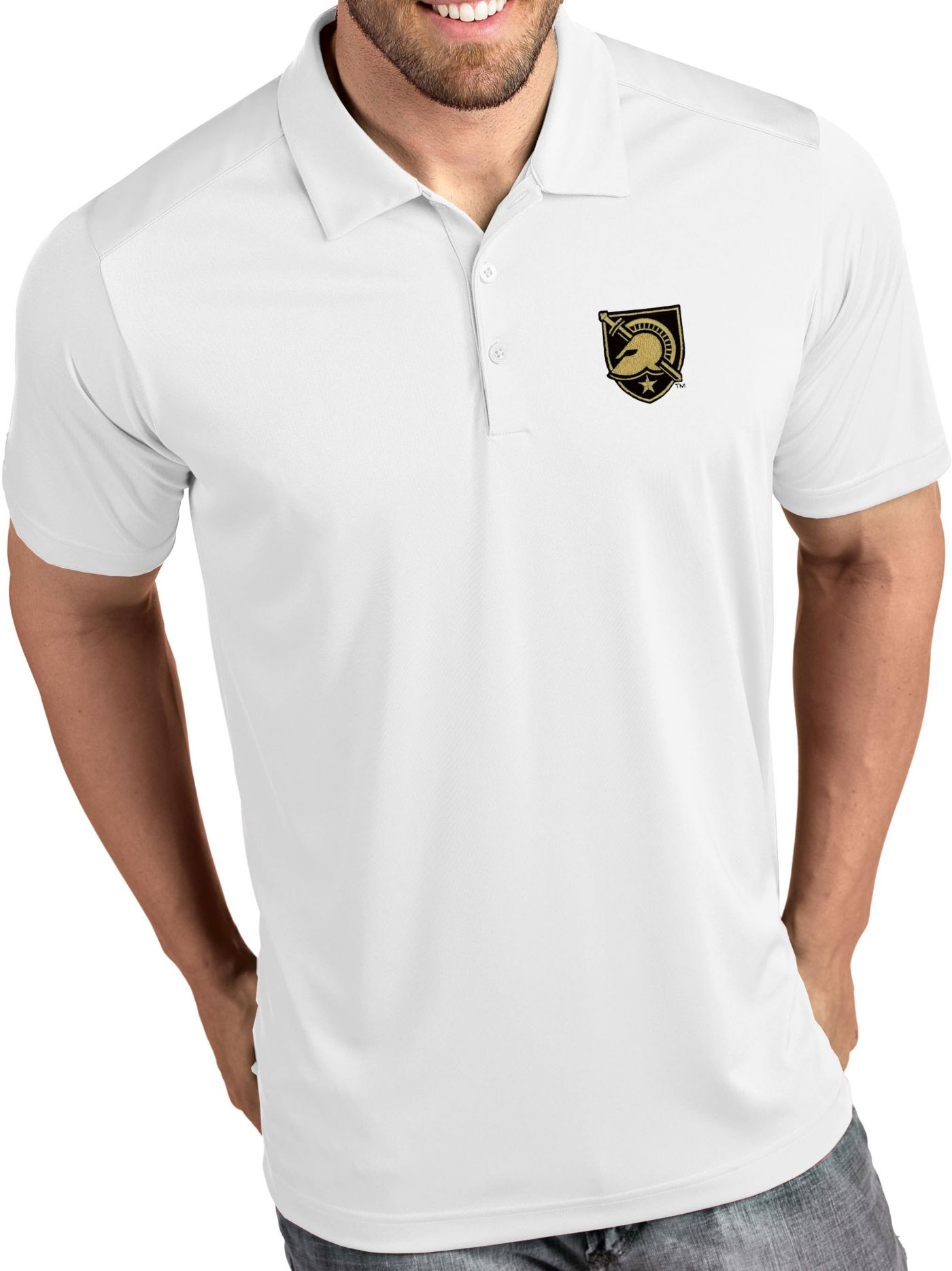 Antigua Men's Army West Point Black Knights Tribute Performance White Polo