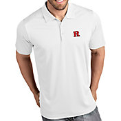 Antigua Men's Rutgers Scarlet Knights Tribute Performance White Polo