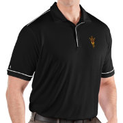 Antigua Men's Arizona State Sun Devils Salute Performance Black Polo