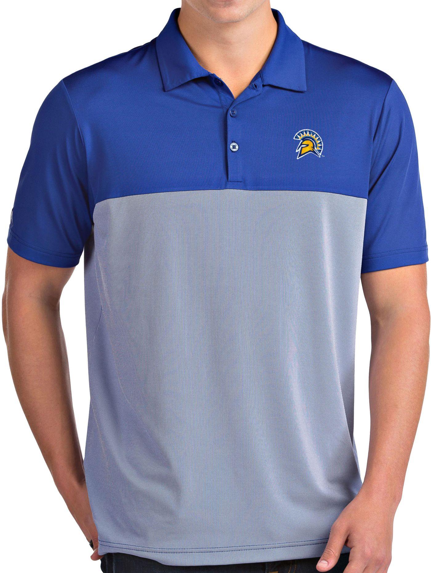 Antigua Men's San Jose State  Spartans Blue Venture Polo