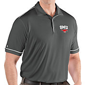 Antigua Men's Southern Methodist Mustangs Grey Salute Performance Polo