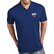 Antigua Men's Southern Methodist Mustangs Blue Tribute Performance Polo