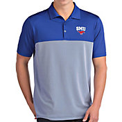 Antigua Men's Southern Methodist Mustangs Blue Venture Polo