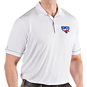 Antigua Men's Southern Methodist Mustangs Salute Performance White Polo