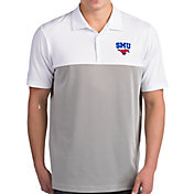 Antigua Men's Southern Methodist Mustangs Venture White Polo