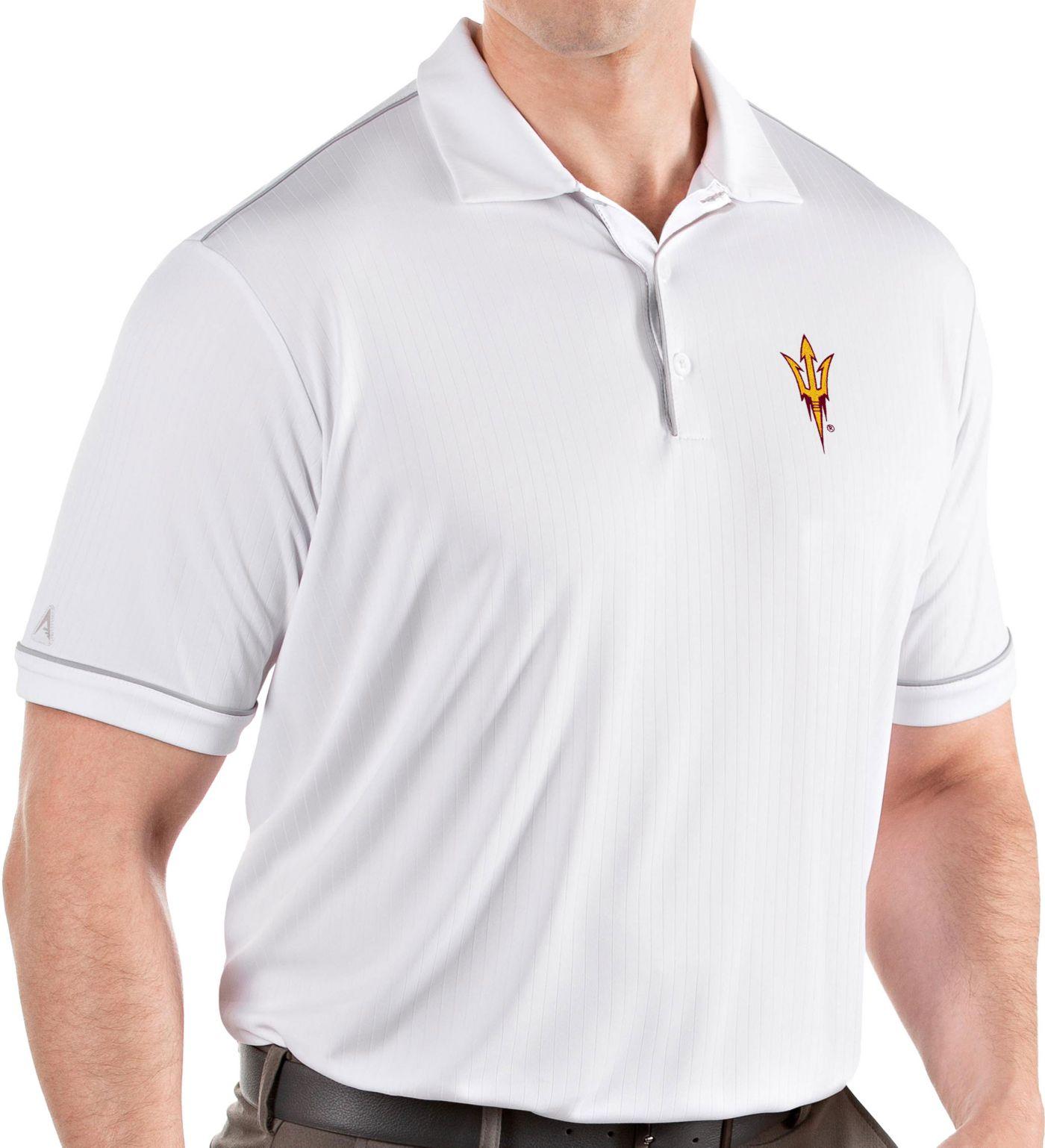 Antigua Men's Arizona State Sun Devils Salute Performance White Polo