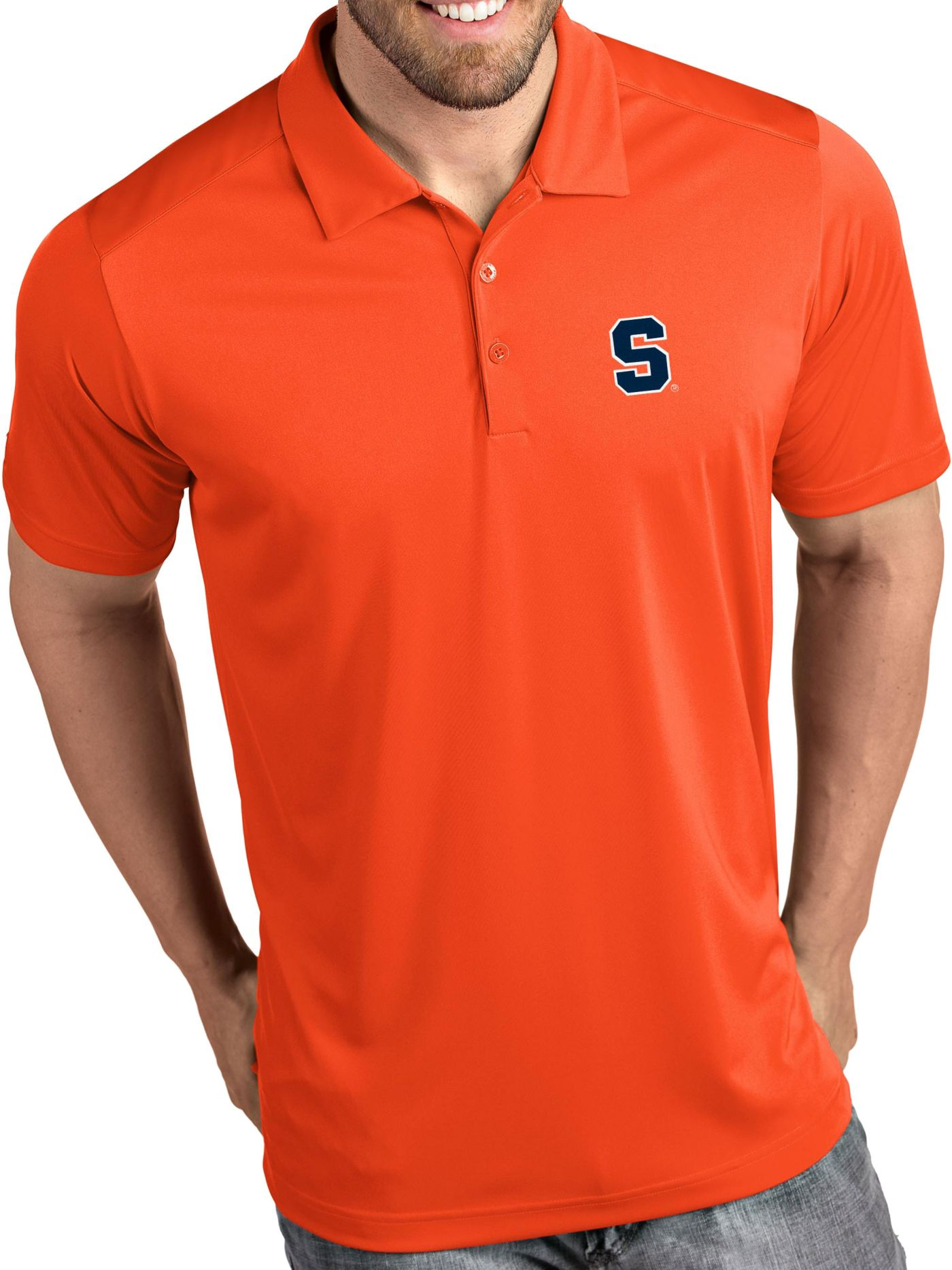 Antigua Men's Syracuse Orange Orange Tribute Performance Polo