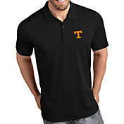 Antigua Men's Tennessee Volunteers Tribute Performance Black Polo