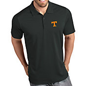 Antigua Men's Tennessee Volunteers Grey Tribute Performance Polo