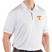 Antigua Men's Tennessee Volunteers Salute Performance White Polo