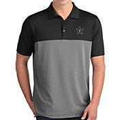 Antigua Men's Vanderbilt Commodores Venture Black Polo
