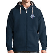 Antigua Men's Virginia Cavaliers Blue 2019 Men's Basketball National Champions Victory Full-Zip Hoodie