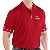 Antigua Men's Wisconsin Badgers Red Salute Performance Polo