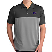 Antigua Men's Washington Huskies Grey Venture Polo