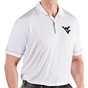 Antigua Men's West Virginia Mountaineers Salute Performance White Polo
