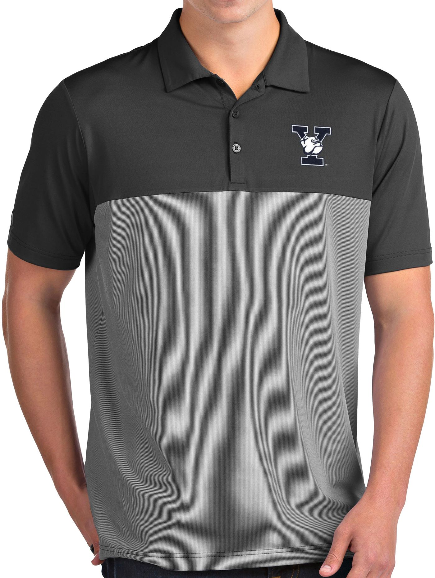 Antigua Men's Yale Bulldogs Grey Venture Polo
