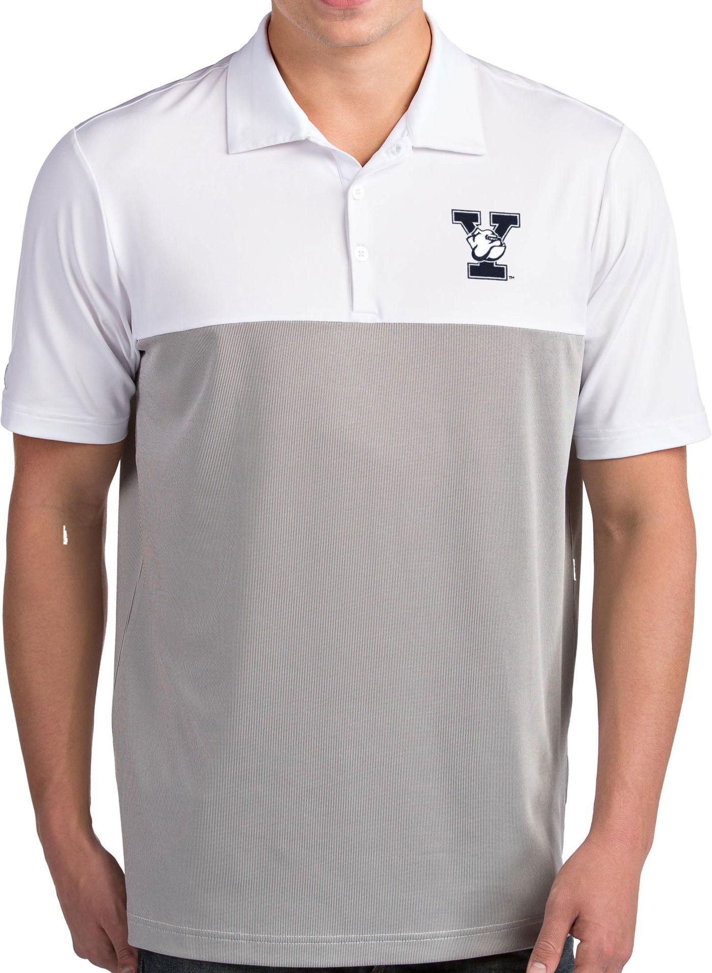 Antigua Men's Yale Bulldogs Venture White Polo