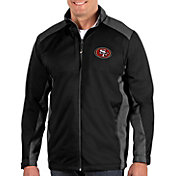 Antigua Men's San Francisco 49ers Revolve Black Full-Zip Jacket