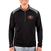 Antigua Men's San Francisco 49ers Velocity Black Quarter-Zip Pullover