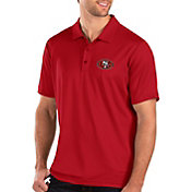 Antigua Men's San Francisco 49ers Balance Red Polo