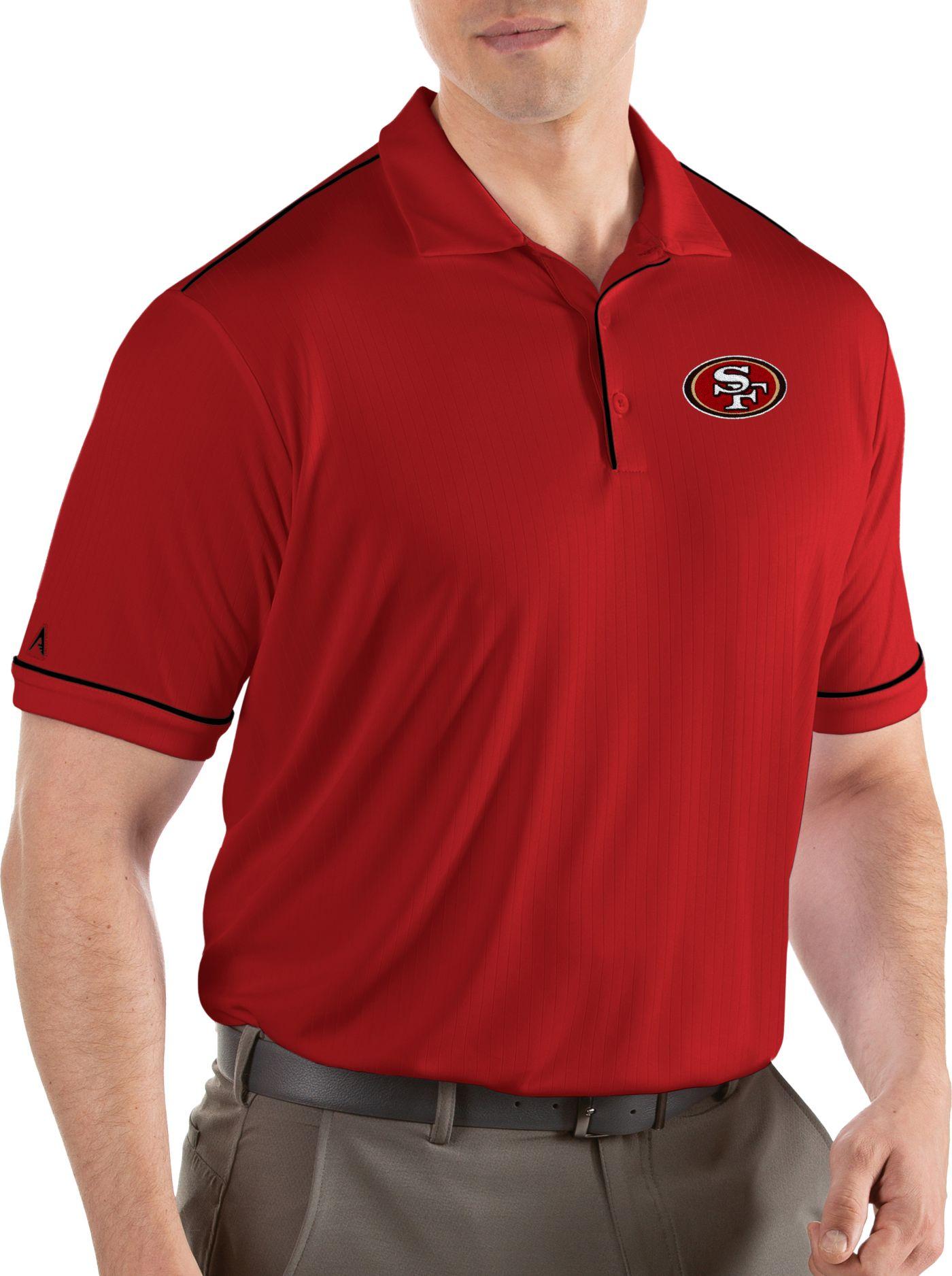 Antigua Men's San Francisco 49ers Salute Red Polo