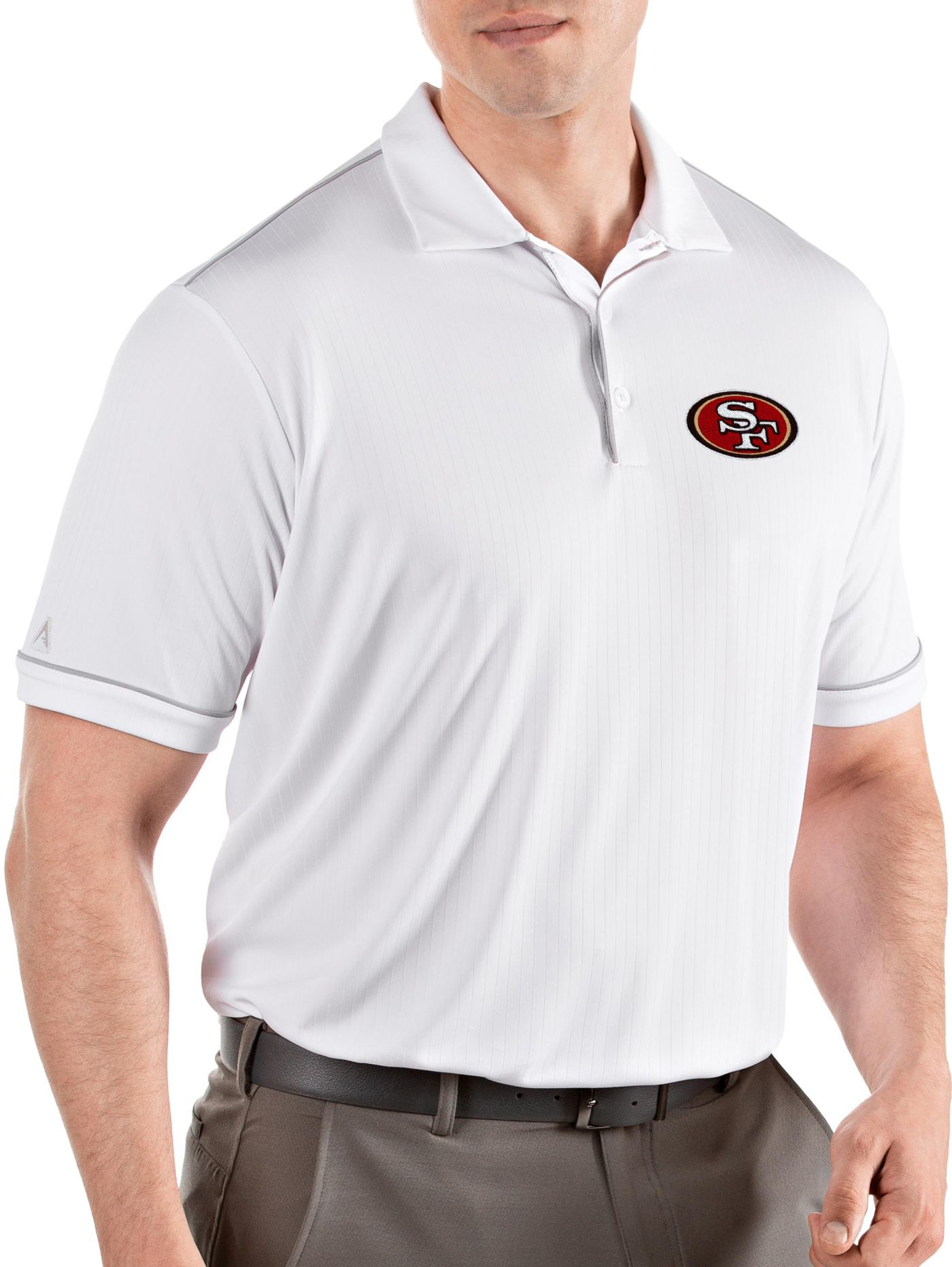 Antigua Men's San Francisco 49ers Salute White Polo