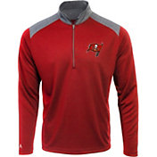 Antigua Men's Tampa Bay Buccanneers Velocity Red Quarter-Zip Pullover