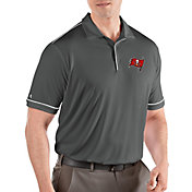 Antigua Men's Tampa Bay Buccaneers Salute Grey Polo